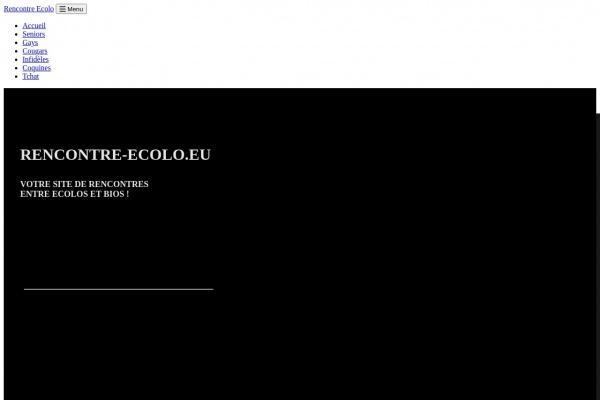 Nouveau : Rencontre-Ecolo.eu