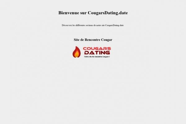 Cougarsdating.date - Nouveauté 2021